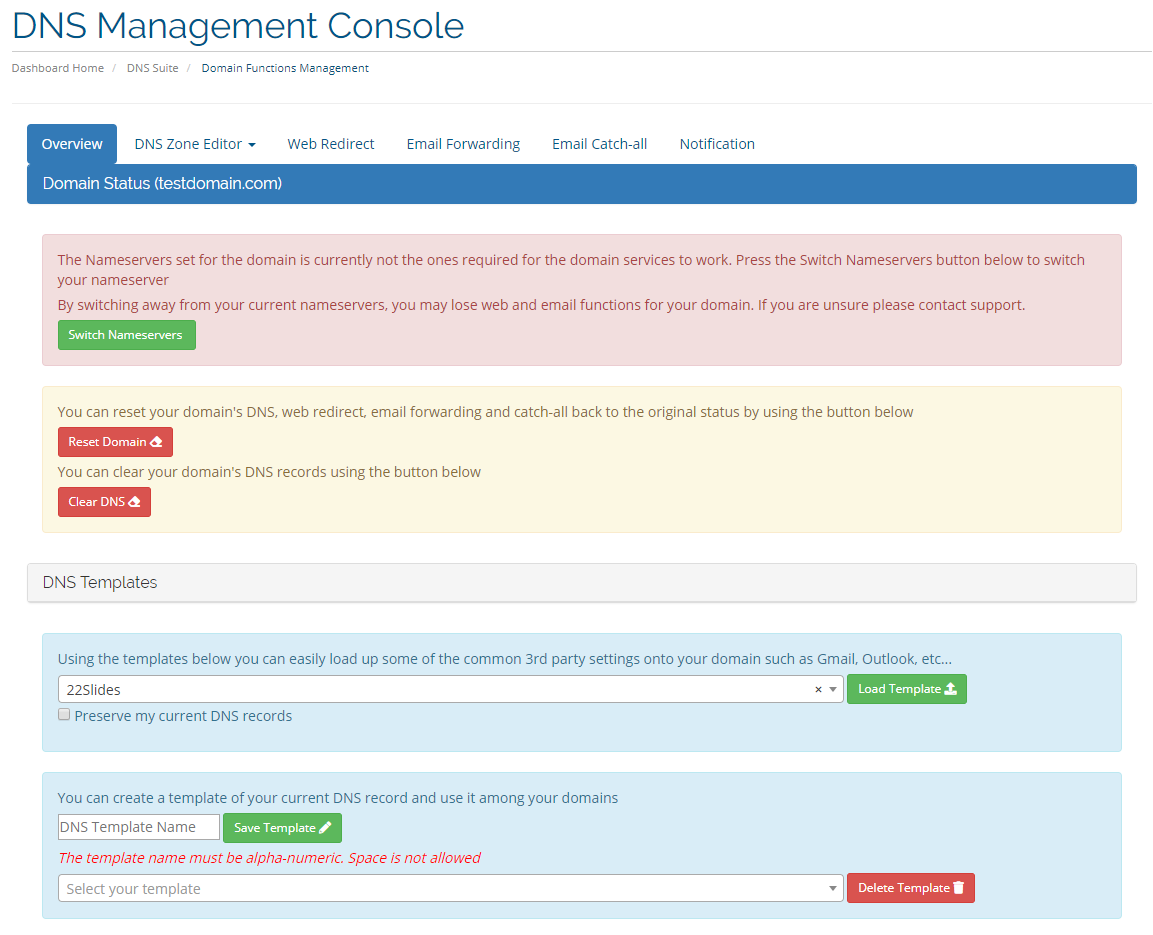 WHMCS DNS Manager FREE ! With Web Redirect, Email Forwarding